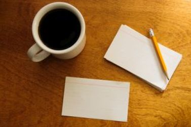 Writing with index cards